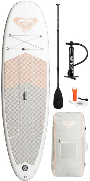 2018 Roxy ISUP 10'6 Stand Up Paddle Board Gonflable Sunrise Pink Inc. Pompe, Paddle, Sac et Laisse EGLISRX106