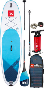 "2020 Red Paddle Co Ride Msl 10'6 ""aufblasbares Stand Up Paddle Board - Carbon 100 Paket"