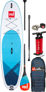 "2020 Red Paddle Co Ride MSL 10'6 ""aufblasbares Stand Up Paddle Board - Carbon 50 Paddel Paket"