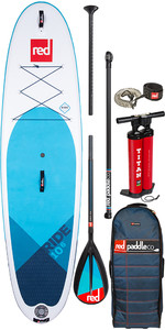 "2020 Red Paddle Co Ride MSL 10'6 ""aufblasbares Stand Up Paddle Board - Carbon 50 / Nylon Paddel Paket"