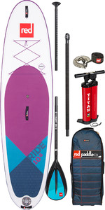 "Red Paddle Co Ride Lila Msl 10'6"" Aufblasbarer Se Stand Up Paddle Board - Legierung Paket"