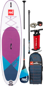 "2020 Red Paddle Co Ride Se Purple Msl 10'6 ""aufblasbares Stand Up Paddle Board - Carbon 100 Paket"