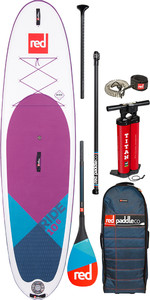 "2020 Red Paddle Co Ride Se Purple Msl 10'6 ""aufblasbares Stand Up Paddle Board - Carbon 50 Paket"