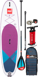 "2020 Red Paddle Co Ride Se Purple Msl 10'6 ""hinchable Stand Up Paddle Board - Paquete De Carbono / Nylon"