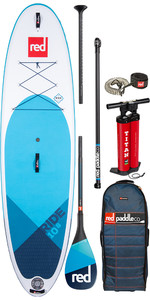 "2020 Red Paddle Co Ride Msl 10'8"" Inflable Stand Up Paddle Board - Carbono Paquete De 100 Paddle"