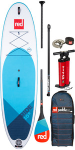 "2020 Red Paddle Co Ride MSL 10'8 ""aufblasbares Stand Up Paddle Board - Carbon 50 Paddel Paket"