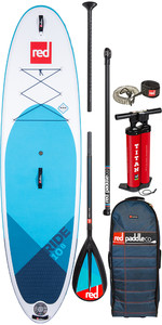 "2020 Red Paddle Co Ride MSL 10'8 ""aufblasbares Stand Up Paddle Board - Carbon / Nylon Midi Paddel Paket"