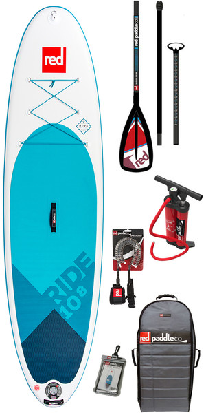 2018 Red Paddle Co 10'8 Ride Inflatable Stand Up Paddle Board + Bag, Pump, Paddle & Leash