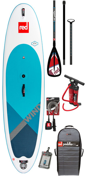 2018 Red Paddle Co WindSUP 10'7 Hinchable Stand Up Paddle Board + Bolsa, bomba, paleta y correa