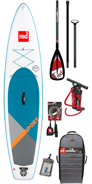 2018 Red Paddle Co Sport 11'0 Hinchable Stand Up Paddle Board + Bolsa, bomba, paleta y correa