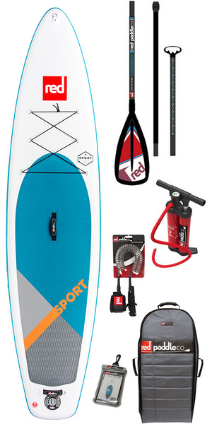 2018 Red Paddle Co Sport 11'3 Hinchable Stand Up Paddle Board + Bolsa, bomba, paleta y correa