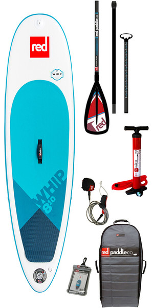 2018 Red Paddle Co Whip 8'10 Inflatable Stand Up Paddle Board + Bolsa, bomba, paleta y correa