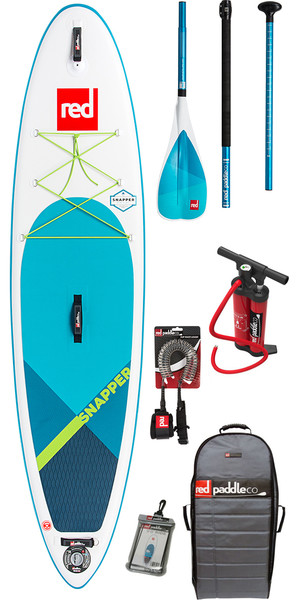 "2018 Red Paddle Co Snapper 9'4 ""Niños inflables Stand Up Paddle Board + Bag, Pump, Paddle & Leash"