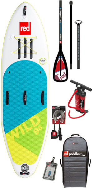 2018 Red Paddle Co Wild 9'6 Inflatable Stand Up Paddle Board + Bag, Pump, Paddle & Leash