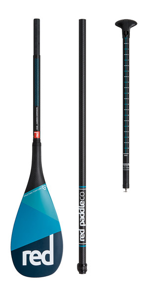 2018 Red Paddle Co Carbon / Carbon Vario Reise 3-teilig SUP Paddel 180CM-220CM