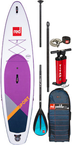 """Stand Up Paddle Board Gonflable Red Paddle Co Sport Msl Se Violet 11'3 """"- Paquet De Pagaies En Alliage"""