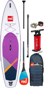 """Red Paddle Co Sport Msl Se Roxo 11'3 """"inflável Stand Up Paddle Board - Pacote De Carbono 50"""