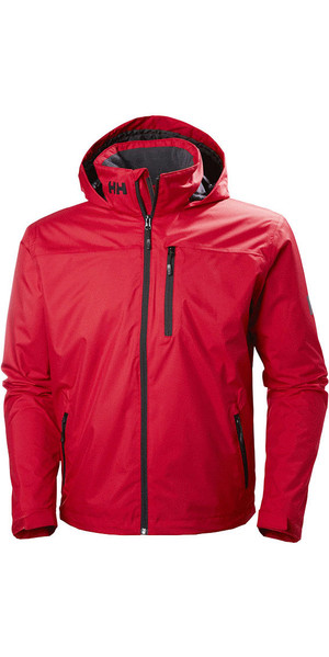 2019 Helly Hansen Hooded Crew Mid Layer Jacket Rosso 33874