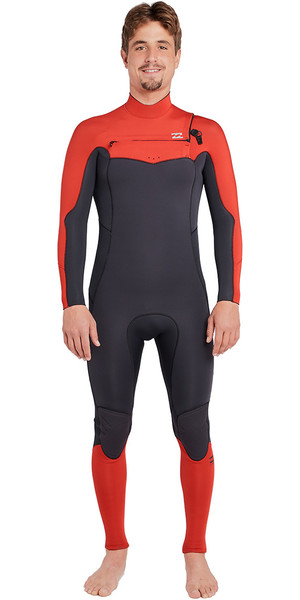 2019 Billabong Furnace Absolute 5 / 4mm Chest Zip Wetsuit Rojo L45M09