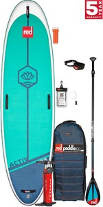 2021 Red Paddle Co Activ 10'8 Yoga Stand Up Paddle Board, Bag, Pump, Paddle & Leash - Carbon / Nylon Package