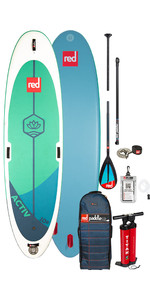 "2020 Red Paddle Co Activ Msl 10'8 ""aufblasbares Stand Up Paddle Board - Carbon 50 / Nylon Paket"