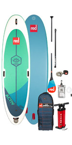 "2020 Red Paddle Co Activ Msl 10'8 ""aufblasbares Stand Up Paddle Board - Carbon 50 Paket"