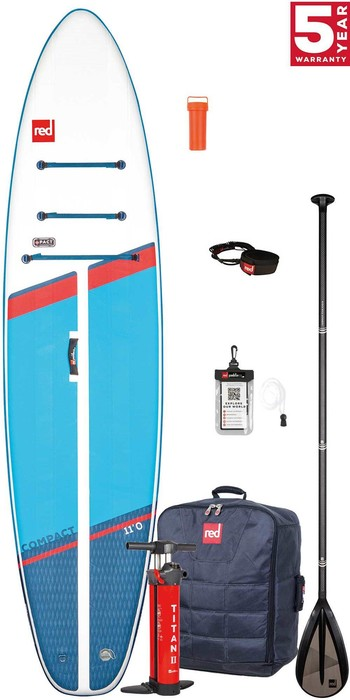 Pre-Order - 2021 Red Paddle Co Compact 11'0 Stand Up Paddle Board, Bag, Pump, Paddle & Leash