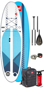 2019 Red Paddle Co 9'6 paquete de SUP inflable compacto - Tablero, bolsa, bomba, pala y correa