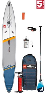 2021 Red Paddle Co Elite 14'0 x 27 Race Stand Up Paddle Board, Bag, Pump, Paddle & Leash - Carbon 100 Package
