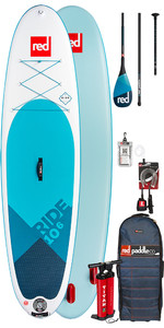 2019 Red Paddle Co Ride 10'6 Aufblasbares Stand Up Paddle Board - Carbon 100 Paket