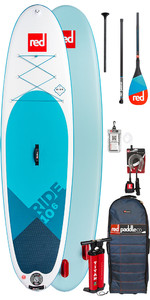 2019 Red Paddle Co Ride 10'6 Aufblasbaren Stand Up Paddle Board - Carbon 50 Paket