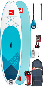 2019 Red Paddle Co Ride 10'8 Aufblasbares Stand Up Paddle Board - Carbon 100 Paket
