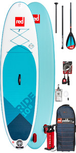 2019 Red Paddle Co Ride 10'8 Oppustelig Stand Up Paddle Board - Kulstof / Nylon Pakke
