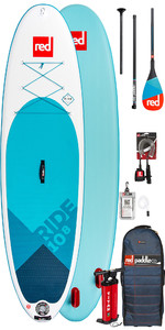2019 Red Paddle Co Ride 10'8 Aufblasbaren Stand Up Paddle Board - Carbon 50 Paket
