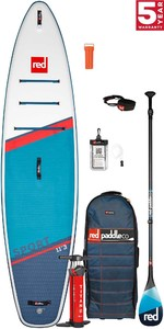 2021 Red Paddle Co Sport 11'3 Touring Stand Up Paddle Board, Bag, Pump, Paddle & Leash - Carbon 100 Package