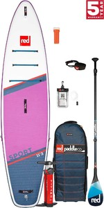 2021 Red Paddle Co Sport 11'3 SE Touring Stand Up Paddle Board, Bag, Pump, Paddle & Leash - Carbon 100 Package