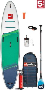 2021 Red Paddle Co Voyager 12'6 Touring Stand Up Paddle Board, Bag, Pump, Paddle & Leash - Carbon 100 Package