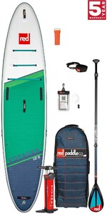 2021 Red Paddle Co Voyager 12'6 Touring Stand Up Paddle Board, Bag, Pump, Paddle & Leash - Carbon / Nylon Package