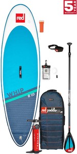 2021 Red Paddle Co Whip 8'10 Surf Stand Up Paddle Board, Bag, Pump, Paddle & Leash - Carbon / Nylon Package
