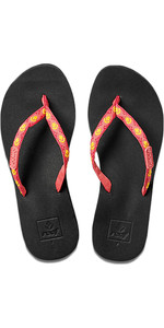 2018 Reef Womens Ginger Flip Flops HOT PINK / YELLOW R01660