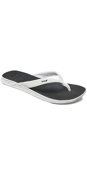 2018 Reef Womens Rover Catch Pop Flip Flops BLACK / WHITE RA3FEQ