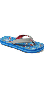 2020 Reef Junior Ahi Slippers / Sandalen RF0A3VBL - Blue Shark
