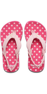 2019 Reef Junior Little Ahi Sandalias / Chanclas Lunares Rf002199pkd1