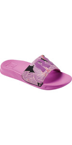 2021 Reef Kids One Sliders Ci3655 - Flor Roxa