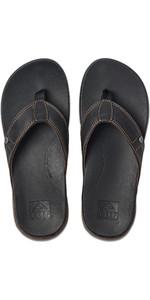 2020 Reef Mens Cushion Bounce Lux Flip Flops / Sandals RF0A3YMN - Black / Brown