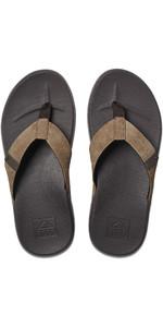 2020 Reef Mens Cushion Bounce Phantom Flip Flops / Sandals RF0A3FDI - Brown / Tan