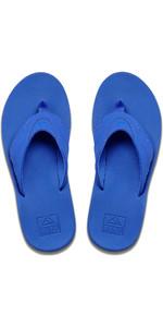 2020 Reef Mens Fanning Flip Flops / Sandals RF002026 - Neon Blue