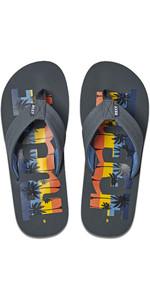 2020 Reef Mens Reef Waters Flip Flops / Sandals RF0A3YKU - Grey Palm