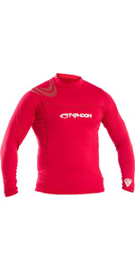 2019 Typhoon Rash Vest Met Lange Mouwen Voor Heren Rich Red 430012