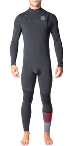 Rip Curl Aggrolite 3/2mm GBS Chest Zip Wetsuit Charcoal WSM8QM